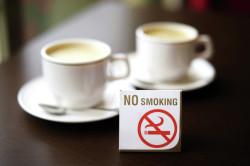 Запрет на курение в кафе